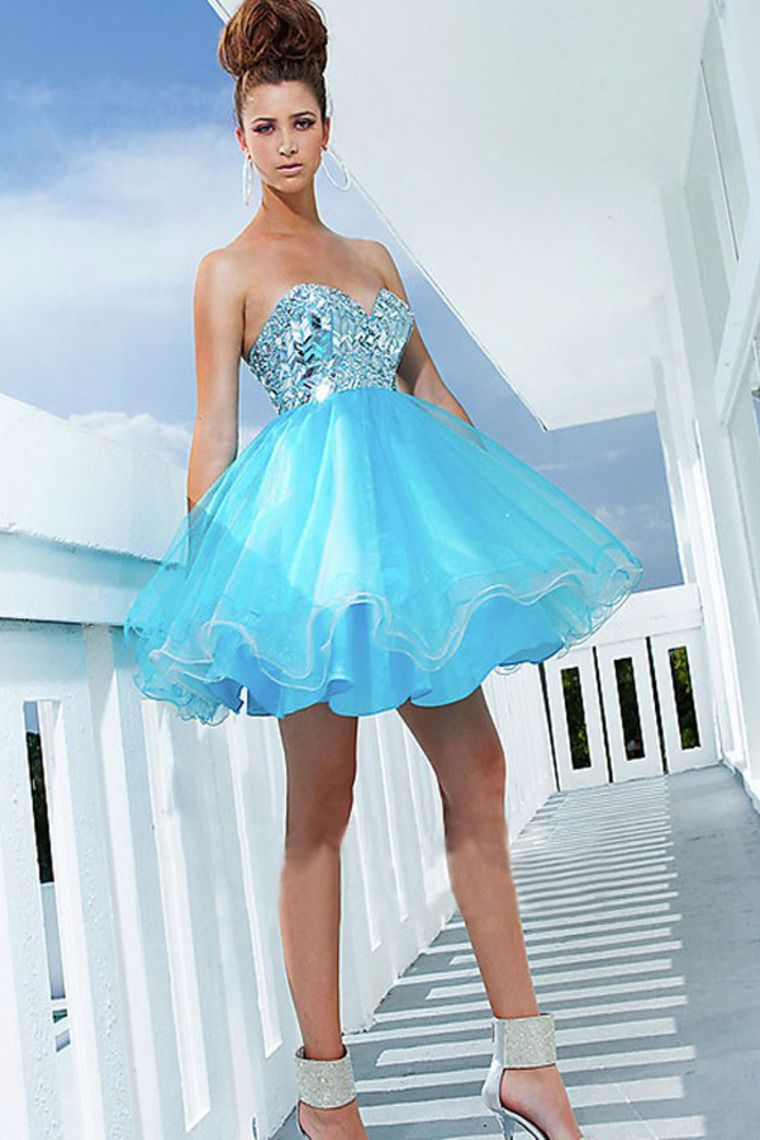 2014 New Arrival A Line Sweetheart Short/Mini Homecoming Dresses ...