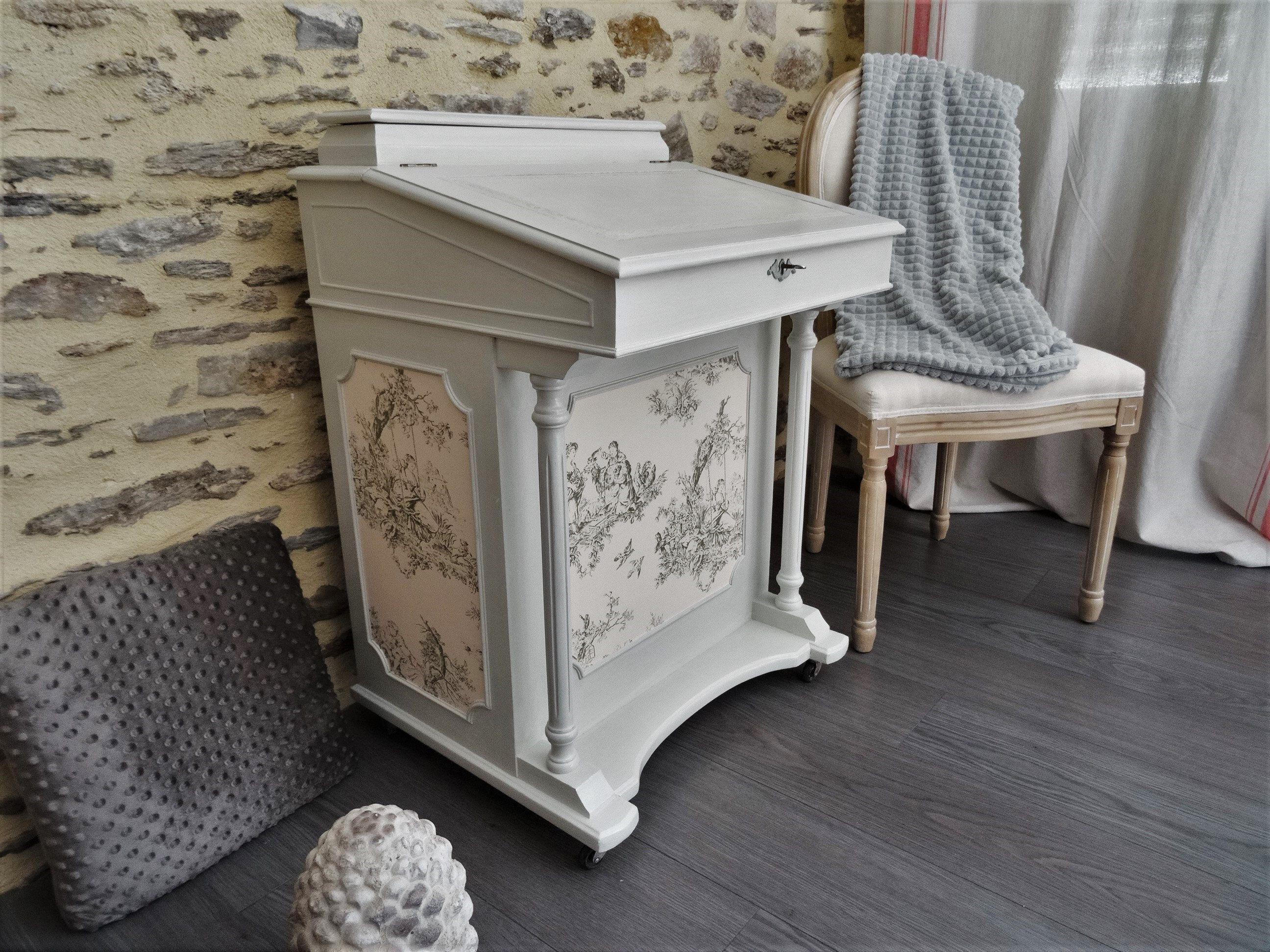 Relooker Une Piece Bureau secretary vintage english repaints, patinated secretaire