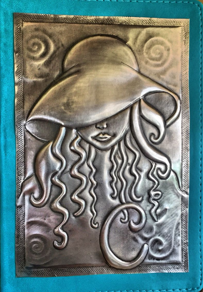 Diy Book Cover Embossing : Pewter journal for clauds … moses pinterest