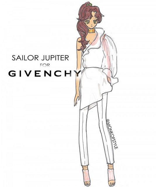 Sailor Jupiter for Givenchy by Jerome LaMaar