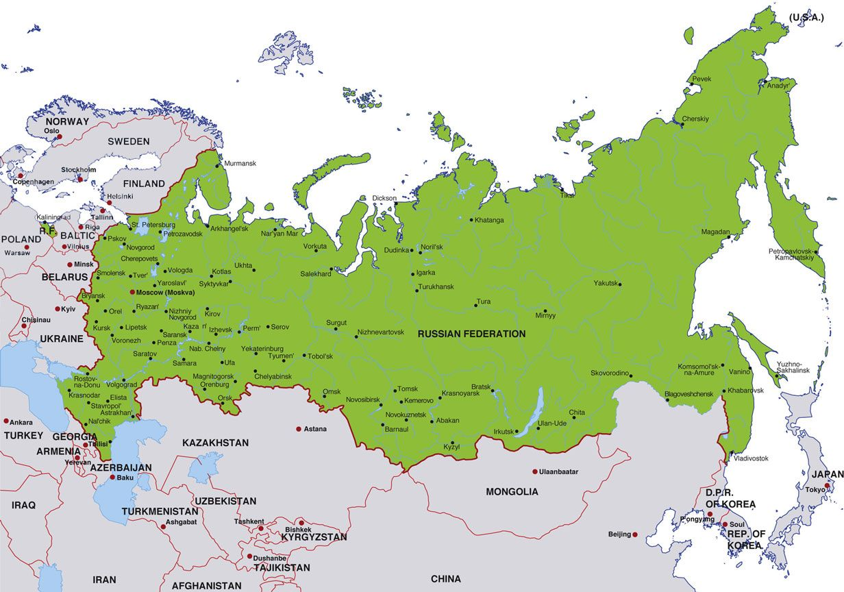 Siberia: The territory of Siberia extends eastwards from the ... on north asia map blank, danube river map blank, black sea map blank,
