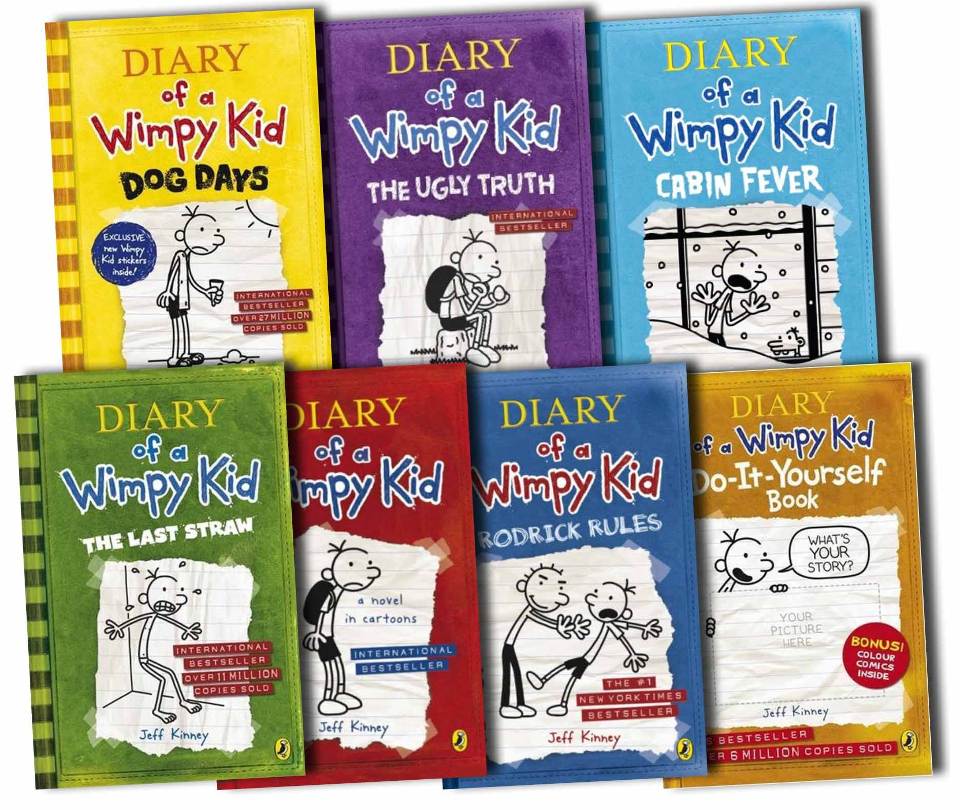 Book collection images diary of a wimpy kid collection 7 books book collection images diary of a wimpy kid collection 7 books set cabin fever solutioingenieria Image collections