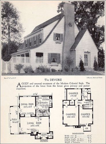 1928 Modern Colonial House Plan Colonial House Plans House