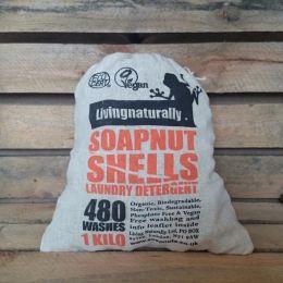 Living Naturally-Nozes saponários em saco de algodão 1 kg