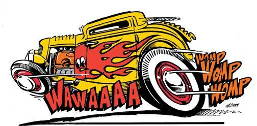 Kustom Kulture I Live For This Shit Drag Racing Cartoons