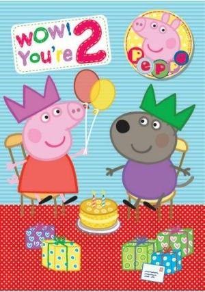 Peppa Pig Age 2 Birthday Card Peppa Pig Birthday Party Peppa Pig Party Supplies Peppa Pig Party