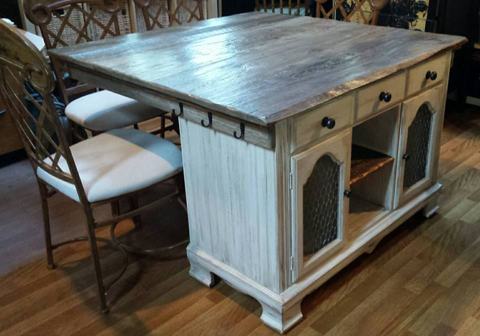From Buffet to Rustic Kitchen Island Rustic kitchen island, Rustic