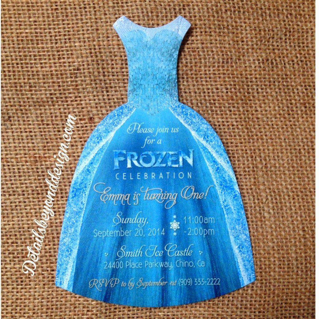 Details Beyond Design by Lauren: FROZEN Dress Invitations - Elsa ...