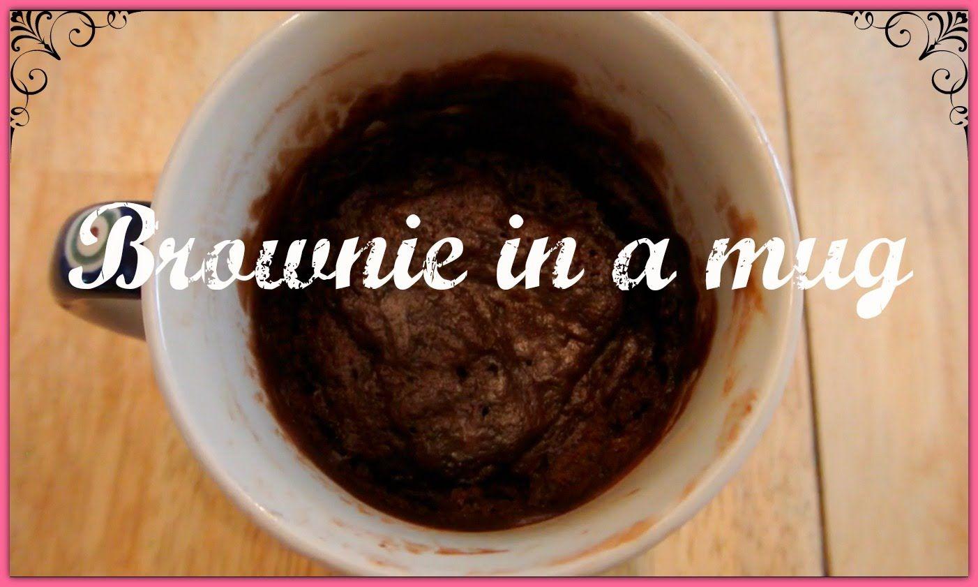 How to make a brownie in a mug, yummmmmm