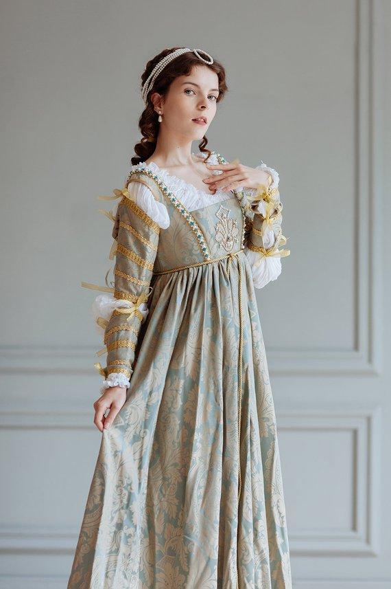 16 Secolo Donna Di Lucrezia Set Borgia Rinascimento Dress15 Nel PZkiXOuT