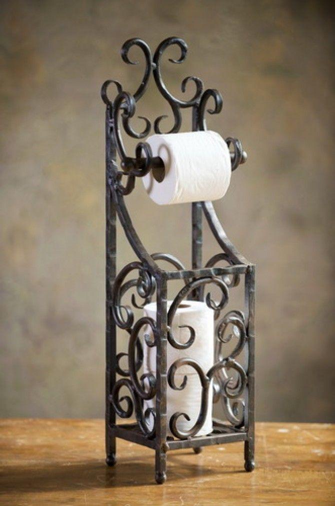 an ideal paper towel or tissue dispenser wrought iron wwwmadampaloozaemporiumcom www - Wrought Iron Decor