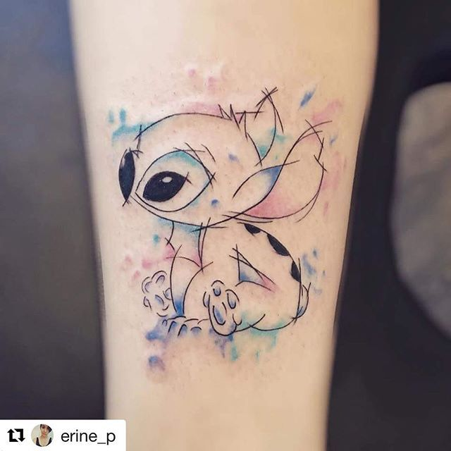 "Disneyinkaddict on Instagram: ""Love this Stitch tattoo that I found on Pinterest shared through Instagram! @erine_p please can you comment the artist? 😍 #Repost @erine_p…"""