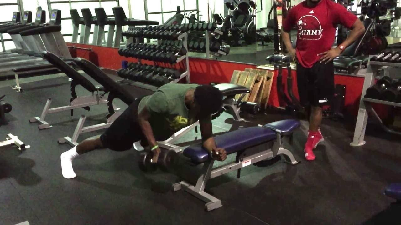 Renegade Incline Plank Row On Bench Nfl Combine Training Plank Row Incline Plank Renegade Rows