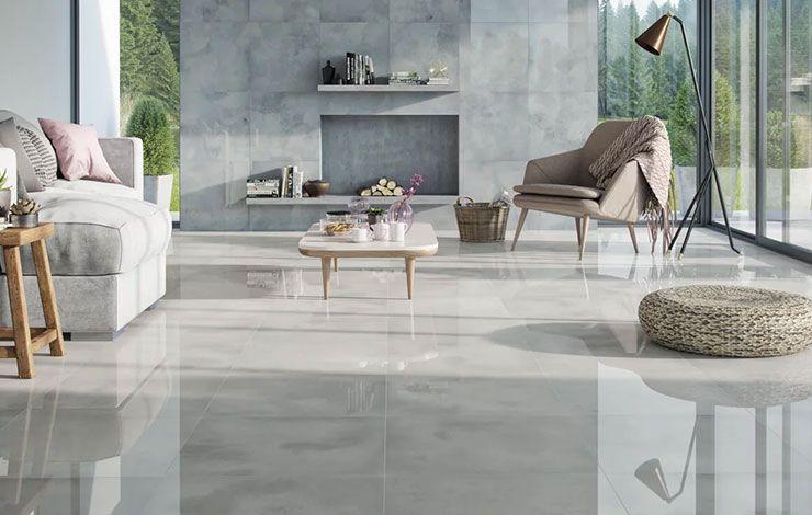 Glossy Tile High Gloss Tile Design Make Space Appear Brighter Tile Floor Living Room Elegant Living Room Design House Flooring