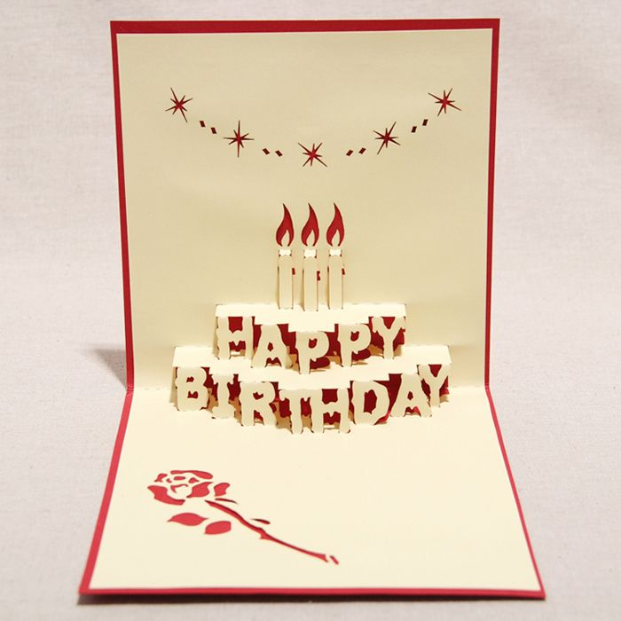 3D Happy Birthday Handmade Creative Kirigami Origami Pop UP – Happy Birthday Pop Up Cards