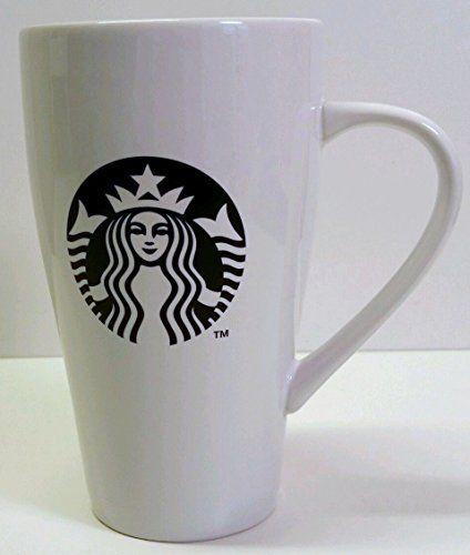 Starbucks 2017 White Black Mermaid Siren Logo 18 Ounce 6 Tall Coffee Mug Cup