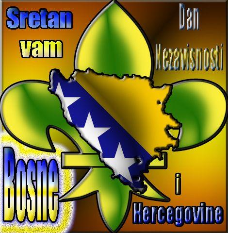 cestitke za: Čestitka za Dan Nezavisnosti Bosne i Hercegovine