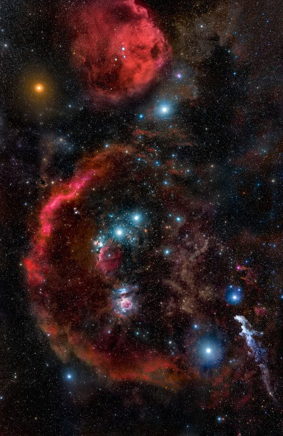 Orion Constellation Nasa Space Hubble Telescope Hd Canvas Print
