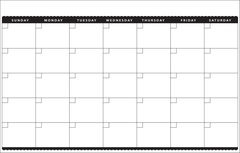 7 Best Images Of Cute Printable Blank Calendar Cute Blank