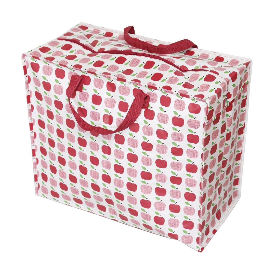 Recycled Red Apples Design Jumbo Storage Bag Dotcomgiftshop Shabby Chic Storage Bag Storage Apple Design