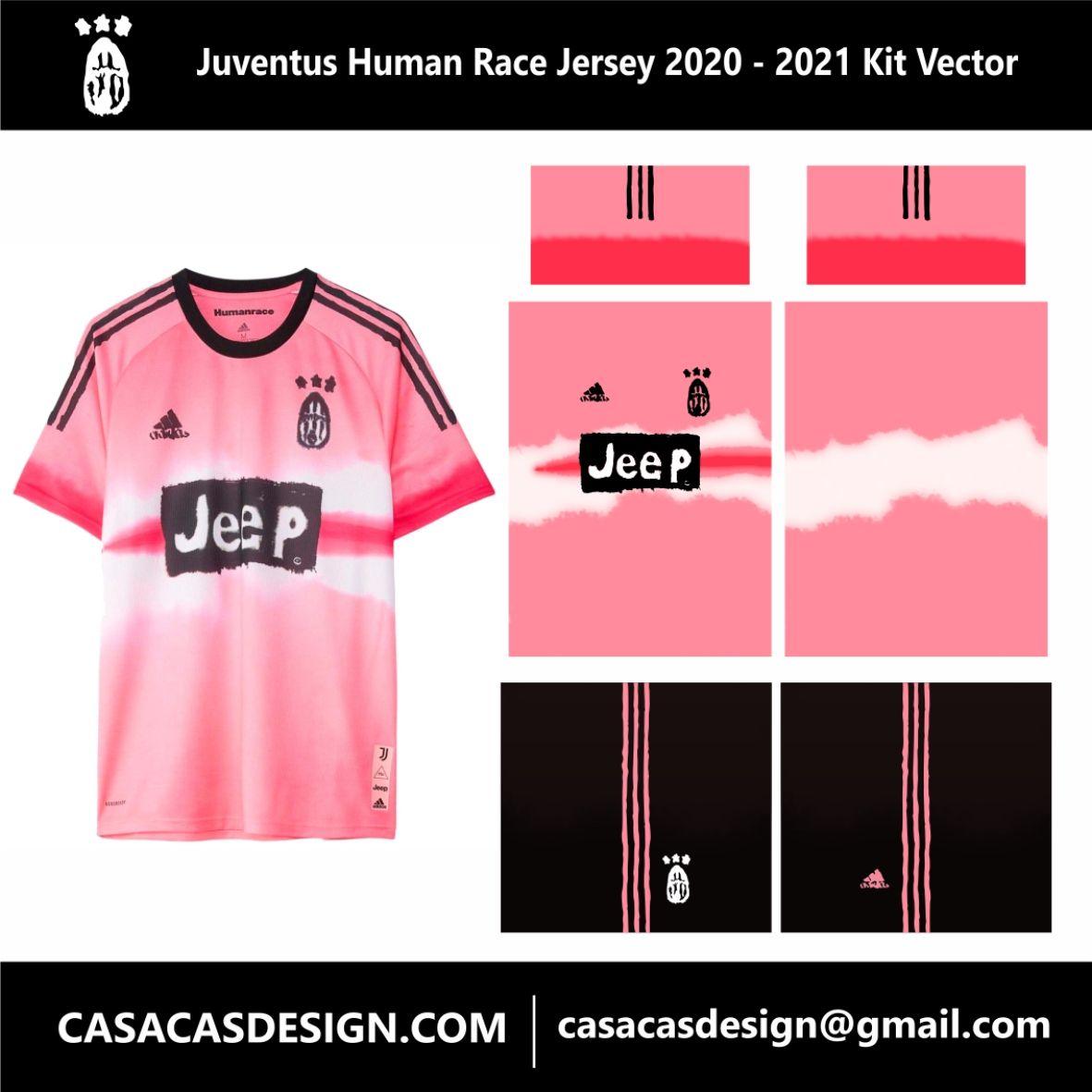Juventus Human Race Jersey 2020 2021 Kit Vector Human Race Jersey Juventus