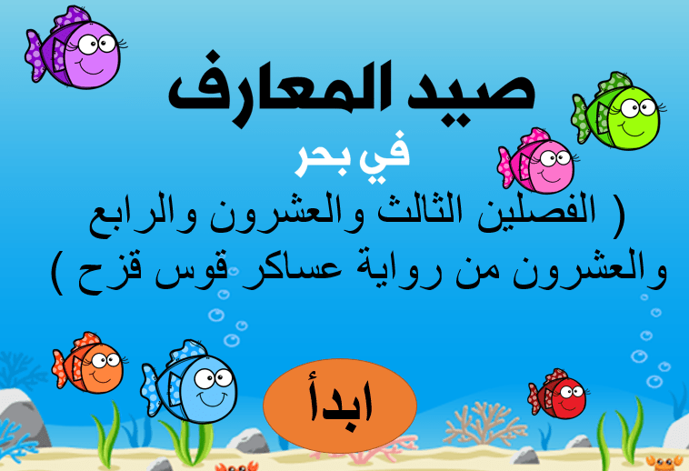 اللغة العربية بوربوينت مراجعة الفصلين الثالث والعشرون والرابع والعشرون للصف التاسع