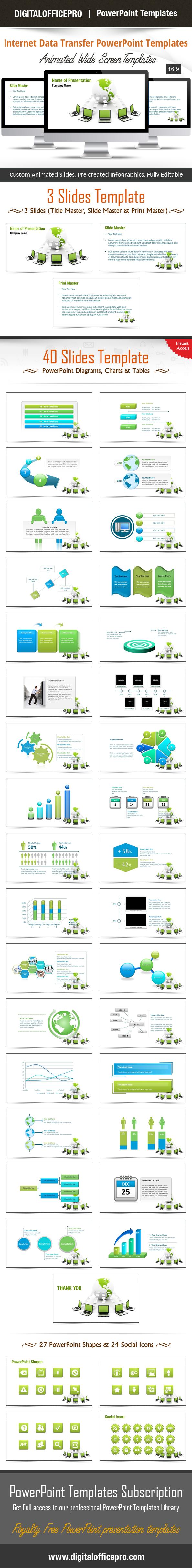 Internet Data Transfer Powerpoint Template Backgrounds Powerpoint Templates Templates Powerpoint