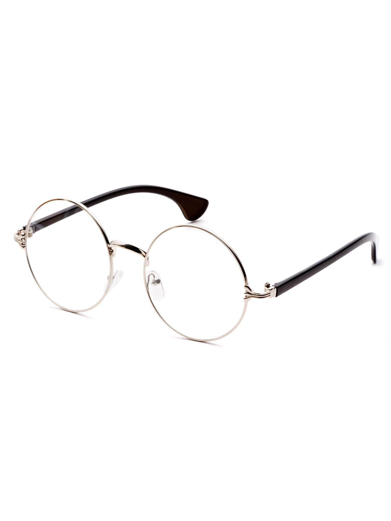 d87f1831825e Silver Frame Black Arm Clear Lens Glasses