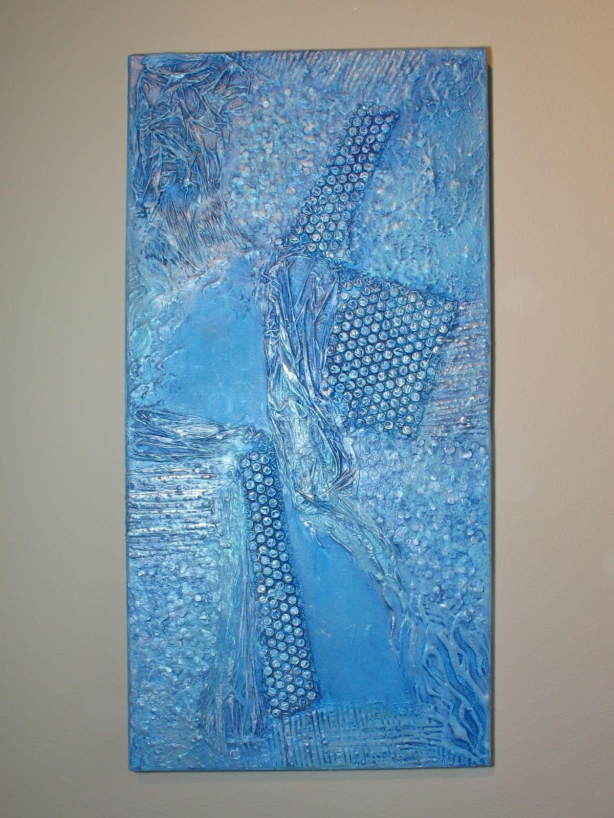 How to create texture in acrylic paintings collage Wall Art