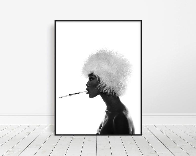 NAOMI CAMPBELL Poster Pop 80s 90s 2000s Room Art Wall Print 2x3 Feet 13