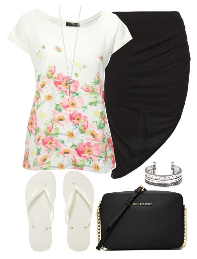 """""""Untitled #144"""" by kimberley-hampton ❤ liked on Polyvore featuring Havaianas, Jane Norman, MICHAEL Michael Kors and Roberto Coin"""