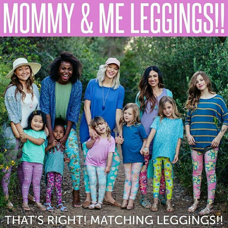 f606045766dd5d From kids to tweens to adults, matching leggings for everyone makes a  beautiful and stylish family!