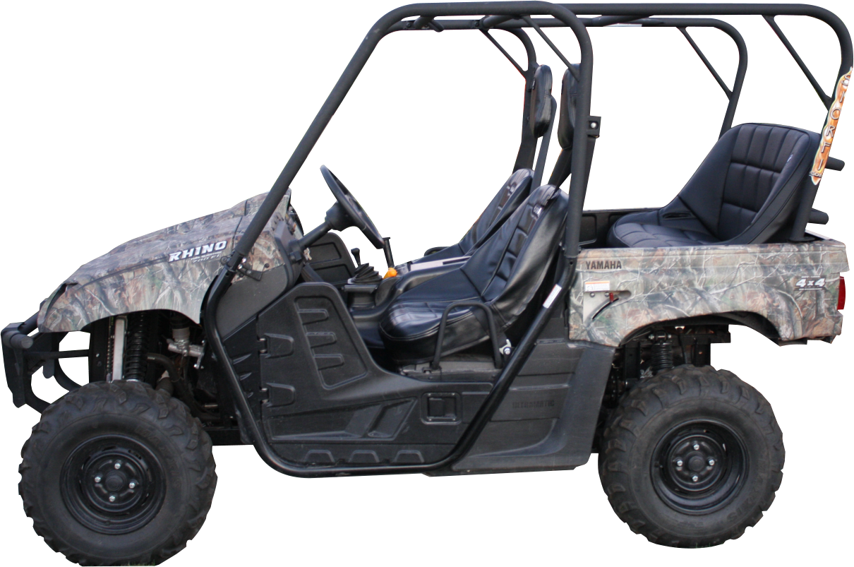 Yamaha rhino back seat and roll cage kit made by siorfi for Yamaha side by side 4 seater