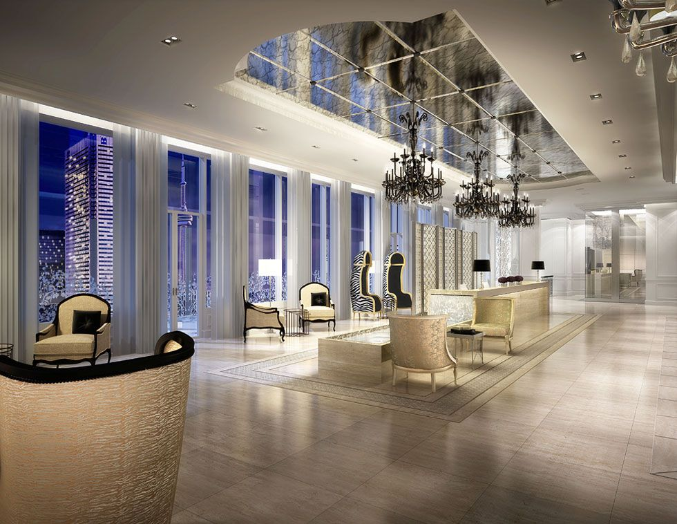 Drama And Elegance In The Residential Sky Lobby At Toronto S Trump