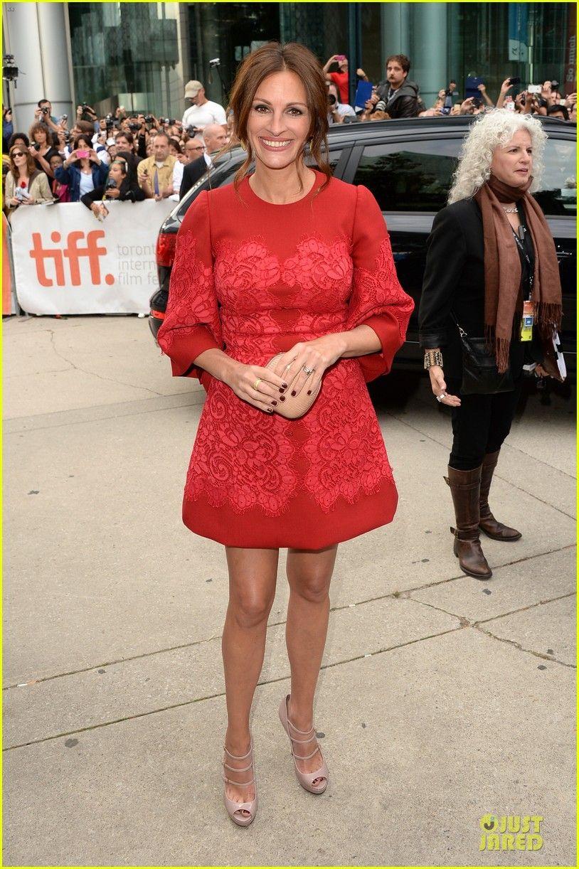 Julia Roberts Ewan Mcgregor August Osage County Tiff Premiere 01 Red Mini Dress Julia Roberts Pretty Dresses [ 1222 x 814 Pixel ]