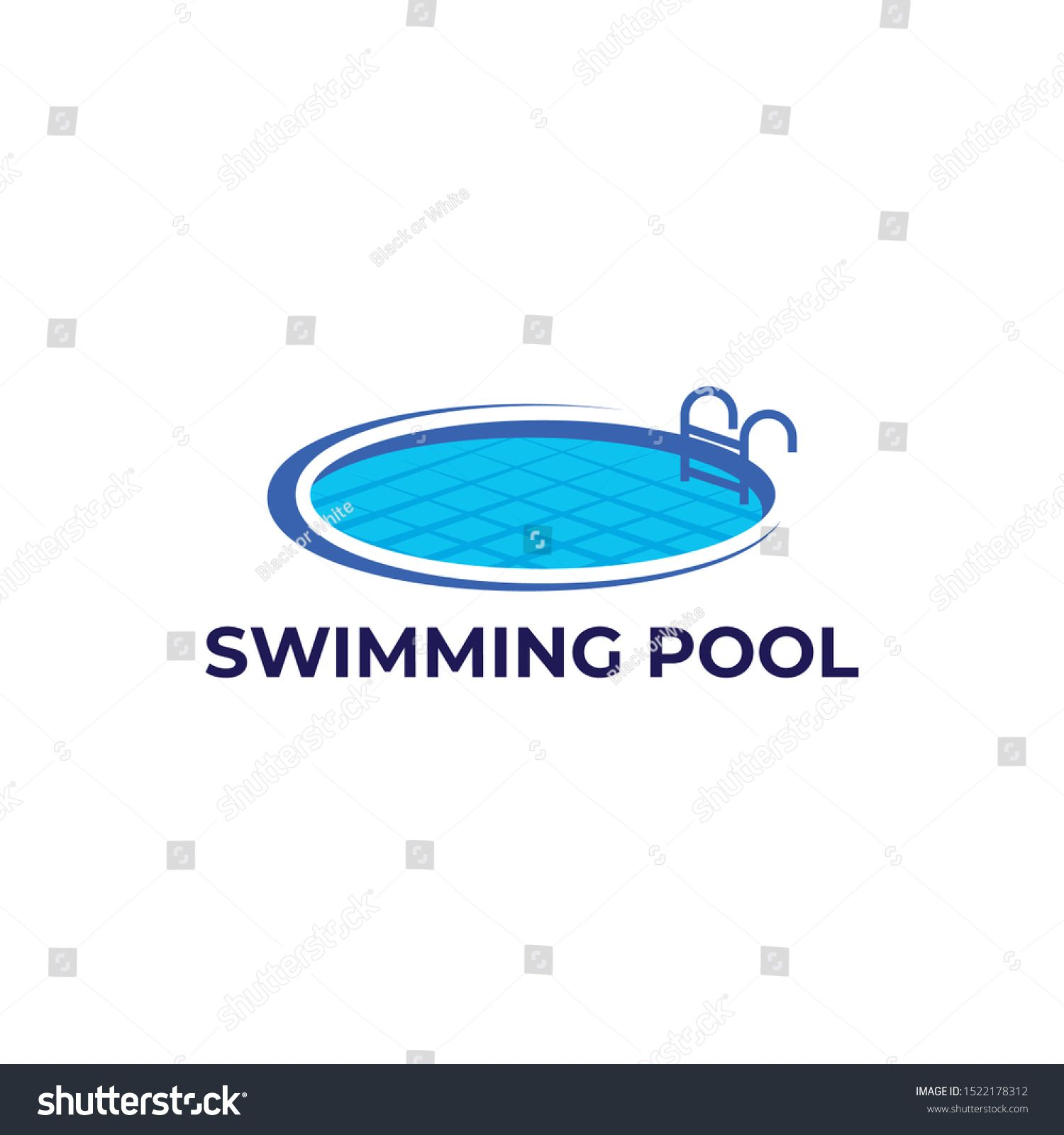 Swimming Pool Logo Design Vector Ad Sponsored Pool Swimming Logo Vector Logo Design Swimming Pools Pool Designs