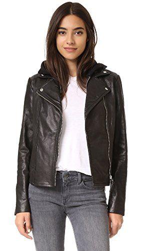 d3e29c223e077b ... low cost mackage womens yoana leather jacket with removable hood black  xs e15a1 0e9d2