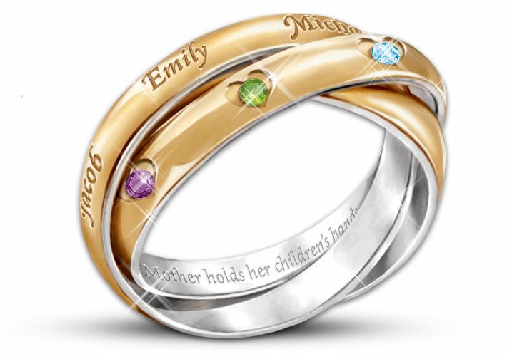 Aquamarine Engagement Ring Rose Gold Vintage Diamond Wedding Ring