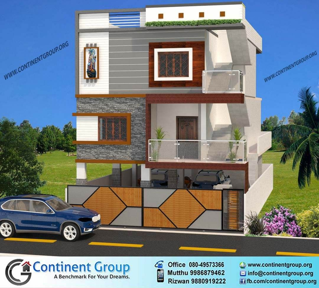 3d front elevation ground plus 2 in 2019 house front