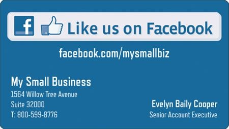 Why You Ll Love Blue Facebook Business Card Stickers Vistaprint Business Cards Unique Business Cards Vistaprint