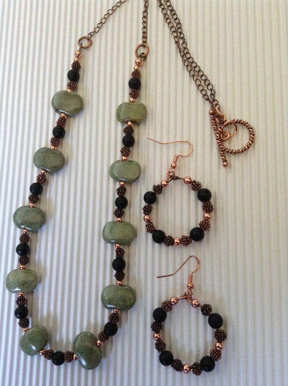 Pangani set Kazuri Beads by ScarletMareStudio on Etsy, $65.00