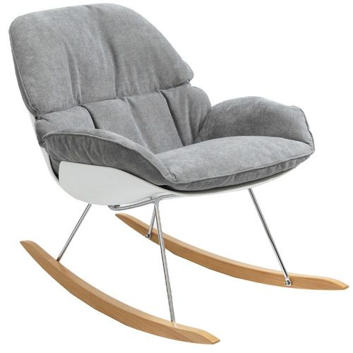 Terrific Light Grey Francesco Coogee Rocking Chair Accent Chairs Caraccident5 Cool Chair Designs And Ideas Caraccident5Info