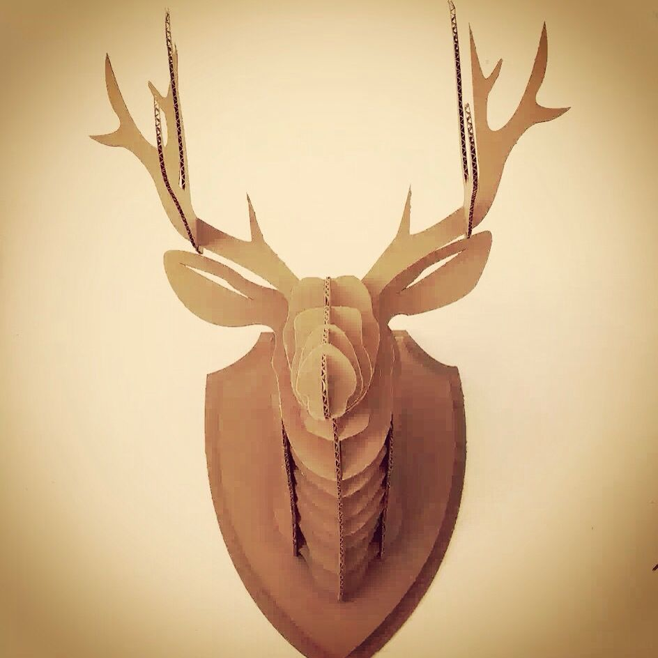 new products corrugated cardboard deer head from 5