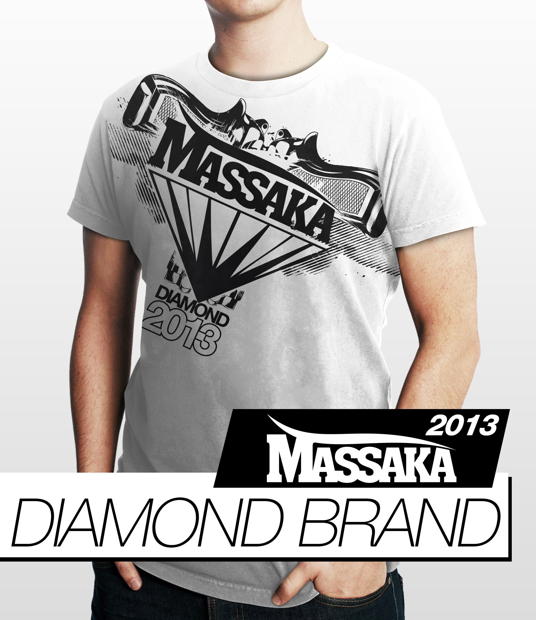 "First T-shirt Preview of Massaka ""Diamond Brand"".    2013 here we go, let's continue to surprise you!"