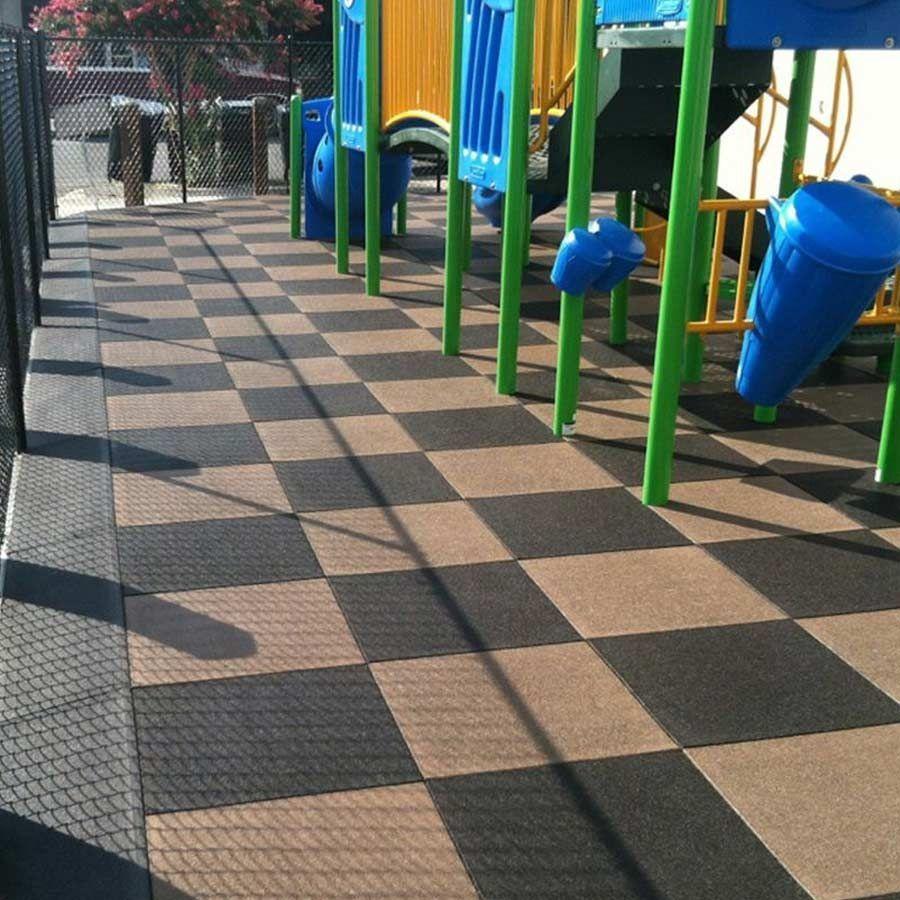 Outdoor Rubber Floor Tiles Interlocking Outdoor Playgrounds