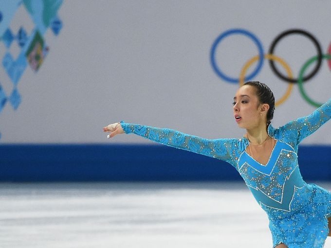 Feb 19, 2014; Sochi, RUSSIA; Brooklee Han of Australia performs in the ladies short program during the Sochi 2014 Olympic Winter Games at Ic...
