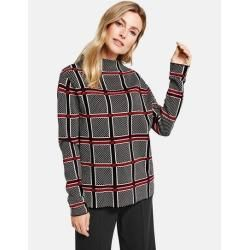 Photo of Pullover mit Fensterkaro Grau Gerry Weber