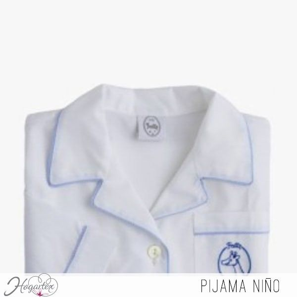 62f700324f Pijama Niños Suave pijama de dos piezas con elegantes bordados para niño.