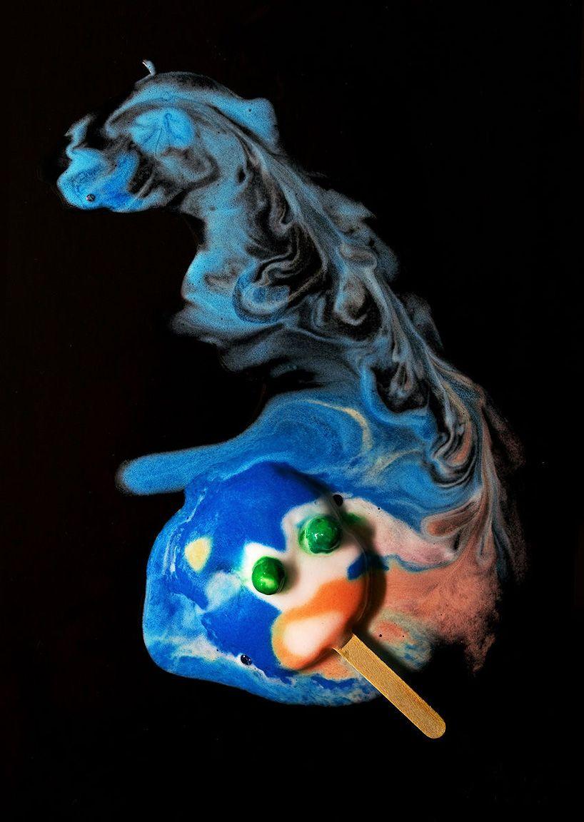 Michael Massaias Melting Ice Pops Look Like Abstract Surrealist Art Melting Ice Cream Ice Cream Art Spongebob Ice Cream