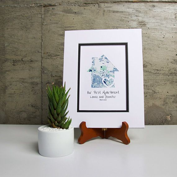 Our First Apartment Personalized Map Gift First By